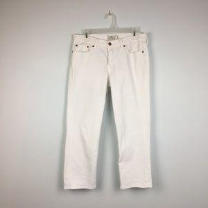 Lucky Brand Sweet Jean Crop White. 10/30